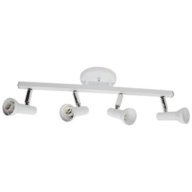 Spot de Sobrepor Flash 4 Lâmpadas Branco Aluminio Dital