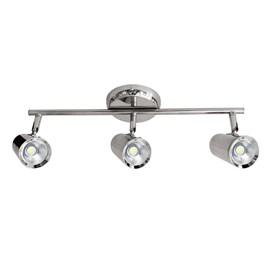 Spot de Sobrepor LED New Short 5W 3 Lâmpadas Luz Branca Cromado Bivolt Bronzearte