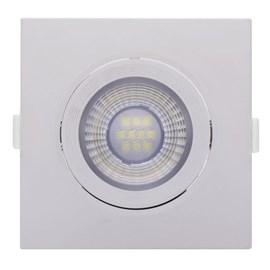 Spot LED de Embutir Quadrado 6W Luz Branco Quente Empalux