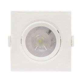 Spot LED Embutir  6W Luz Branco Frio Bivolt Quadrado Branco MR16 Empalux
