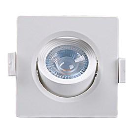 Spot LED Embutir Branco 5w Luz Branco Frio Quadrado Taschibra