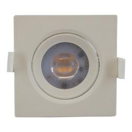 Spot LED Embutir Luz Branco Quente 5w Quadrado Taschibra