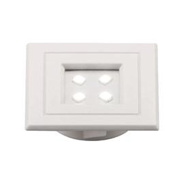 Spot Lumini Pop Quadrado Branco 1W Branco Frio Pix