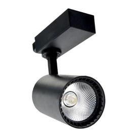 Spot Trilho LED Preto 20W Luz Branco Quente Bivolt Empalux