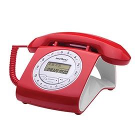 Telefone com Fio e Identificador de Chamadas TC8312 Vermelho Intelbras