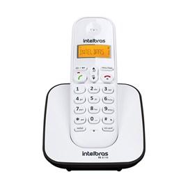 Telefone sem Fio com Identificador de Chamadas TS-3110 Preto e Branco Intelbras