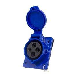 Tomada Blindada Embutir 3P+T 32A 250V Azul Eletrorastro
