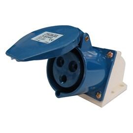 Tomada Blindada Sobrepor 2P+T 32A 250V Azul Metaltex