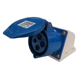 Tomada Blindada Sobrepor 3P+T 32A 250V Azul Metaltex