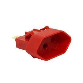 Tomada para Painel Elétrico 10A 2P+T com Poço Externo Vermelha Margirius
