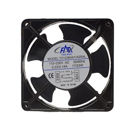 Ventilador de Painel 120x120x38 110/220V Embutido Bucha Maxtech