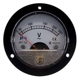 Voltímetro Analógico 250VCA 65,4mm Redondo JNG